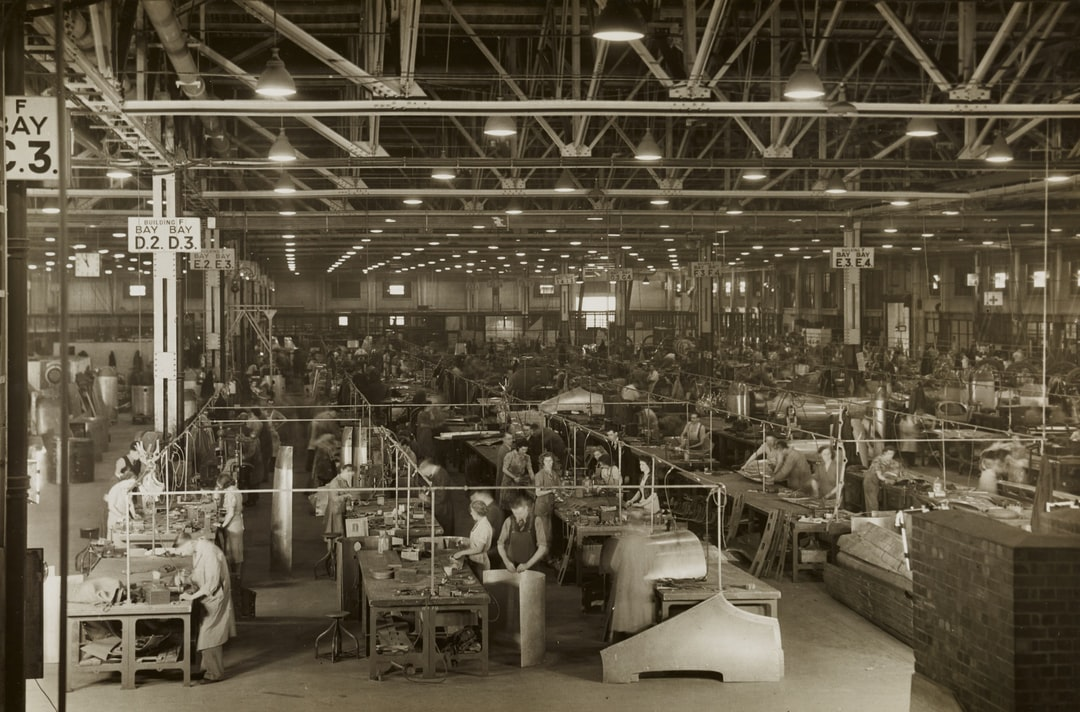 An old photo of a factory
